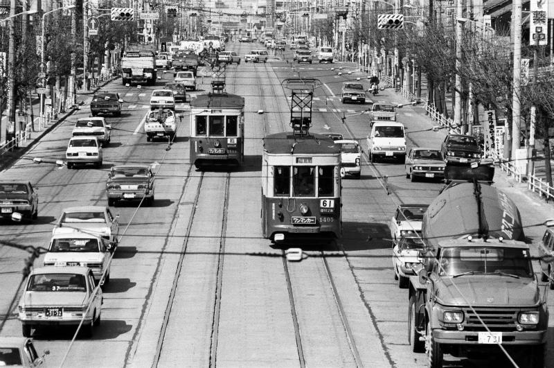 1974年(昭和49年)の名古屋市電、桜本町一丁目~昭和町 ...