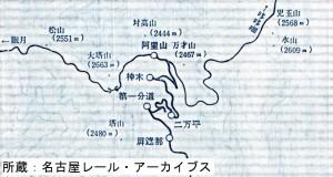 阿里山森林鉄道路線図(阿里山駅周辺)