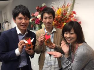 松岡さんからチョコ